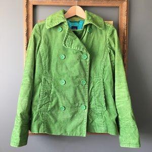 Ladies GAP Green Corduroy Peacoat